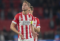 October 4, 2018 - Eindhoven, Netherlands - Luuk de Jong of PSV disappointed during the UEFA Champions League Group B match between PSV Eindhoven and FC Internazionale Milano at Philips Stadium in Eindhoven, Holland on October 3, 2018  (Credit Image: © Andrew Surma/NurPhoto/ZUMA Press)