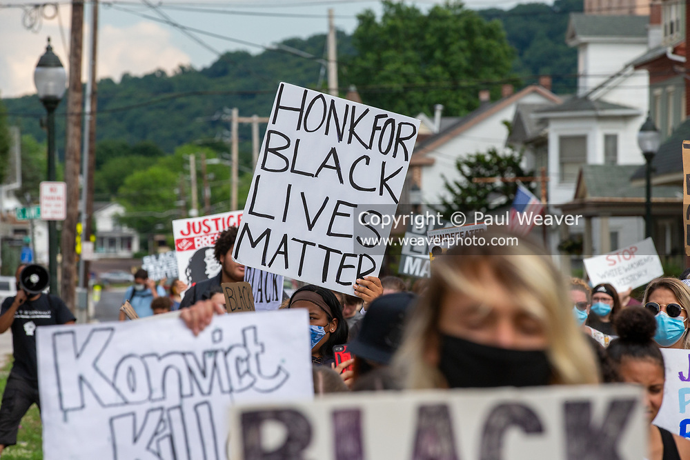 Sunbury, PA (July 12, 2020) -- About 150 people gathered at Cameron Park in Sunbury to join the Milton-based anti-racist collective 'If Not Us, Then Who?' for a Black Lives Matter protest and march.