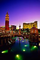 The Venetian Resort Hotel and Casino (The Mirage is in back), Las Vegas Boulevard (The Strip), Las Vegas, Nevada USA