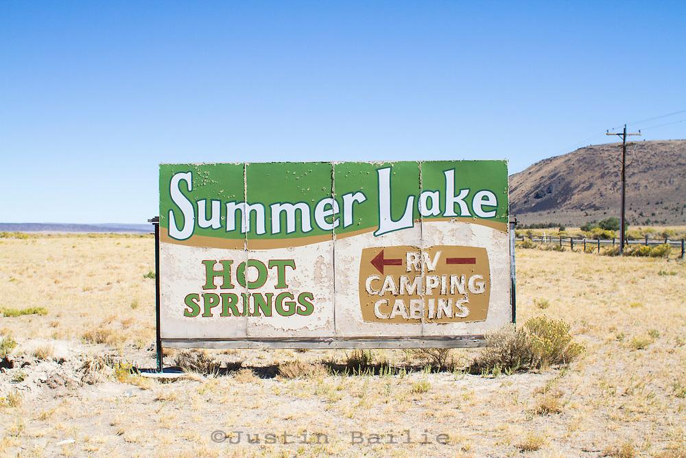Summer Lake Hotsprings in Southeast Oregon.
