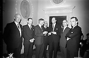 18/2/1966<br /> 2/18/1966<br /> 18 February 1966<br /> <br /> Attendees of the reception chatting before the announcement of the ten scholarships