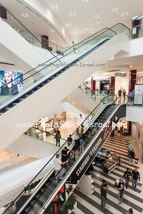 Interior of a shopping mall. Photographed in  Israel