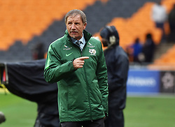 South Africa: Johannesburg: Bafana Bafana coach Stuart Baxter gestures during the Africa Cup Of Nations qualifiers against Seychelles at FNB stadium, Gauteng.<br /> Picture: Itumeleng English/African News Agency (ANA)