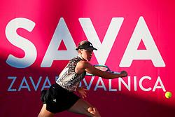PORTOROZ, SLOVENIA - SEPTEMBER 18: Kaja Juvan of Slovenia competes during the Semifinals of WTA 250 Zavarovalnica Sava Portoroz at SRC Marina, on September 18, 2021 in Portoroz / Portorose, Slovenia. Photo by Matic Klansek Velej / Sportida