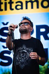 Tone Kregar lead singer of Mi2 during sprejem Tima Gajsreja, on Avgust 27, 2019 in Maribor, Slovenia. Photo by Blaž Weindorfer / Sportida