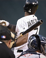CHICAGO - SEPTEMBER 27:  Tim Anderson #7 of the Chicago White Sox bats against the Detroit Tigers on September 27, 2019 at Guaranteed Rate Field in Chicago, Illinois.  (Photo by Ron Vesely)  Subject:   Tim Anderson