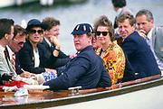 Henley, UNITED KINGDOM. Regatta Chairman, Peter CONI. in the umpires launch. 1988 Henley Royal Regatta, Henley Reach. [Mandatory Credit Peter Spurrier/Intersport Images]