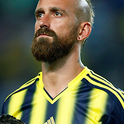 Fenerbahce's Raul Jose Trindade Meireles during the UEFA Champions League Play-Offs First leg soccer match Fenerbahce between Arsenal at Sukru Saracaoglu stadium in Istanbul Turkey on Wednesday 21 August 2013. Photo by Aykut AKICI/TURKPIX