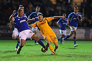 Newport's Conor Washington © in action.Johnstone's Paint Trophy Quarter Final (Southern Area)  match, Newport county v Portsmouth at Rodney Parade in Newport, South Wales on Tuesday 12th November 2013. pic by Andrew Orchard, Andrew Orchard sports photography,