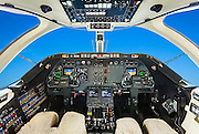 Cockpit of a Hawker 400A.  Created for Georgia Jet.