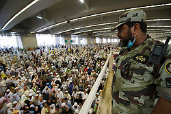 MECCA, Sept. 26, 2015 (Xinhua) -- Muslim pilgrims attend Hajj rituals in Mina outside Mecca, Saudi Arabia, Sept. 26, 2015. The death toll in Thursday's stampede in Mina, neighboring the holy city Mecca, has risen to 769, Saudi Health Minister Khalid al-Falih said on Saturday. The accident took place amid a rush of the stoning as part of Hajj rituals. Muslim pilgrims throw stones on a wall representing devil. .(Xinhua) (Credit Image: © Xinhua/Xinhua via ZUMA Wire)