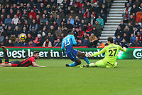 Football - 2017 / 2018 Premier League - AFC Bournemouth vs. Arsenal<br /> <br /> Danny Welbeck of Arsenal has a chance well saved by Bournemouth's Asmir Begovic at Dean Court (Vitality Stadium) Bournemouth <br /> <br /> COLORSPORT/SHAUN BOGGUST