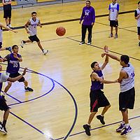 The Miyamura Patriots varsity squad runs drills during practice at Miyamura High School Tuesday.