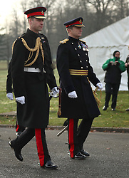 The Duke of Cambridge (left) represents the Queen as the Reviewing Officer at The Sovereign's Parade at Royal Military Academy Sandhurst in Camberley.