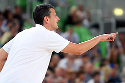 Dejan Radonjic coach of Montenegro at friendly match between Slovenia and Montenegro for Adecco Cup 2011 as part of exhibition games before European Championship Lithuania on August 7, 2011, in SRC Stozice, Ljubljana, Slovenia. (Photo by Urban Urbanc / Sportida)