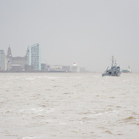LIVERPOOL, UK, 23rd May, 2013. FGS Gromitz arrives in the River Mersey, Liverpool, UK, as part of the Battle of the Atlantic 70th anniversary celebration weekend. A fleet of 21  Royal Naval vessels will visit over the weekend.