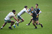 Rugby Union - 2020 / 2021 Gallagher Premiership - Round Eight - Wasps vs Northampton Saints - Ricoh Stadium<br /> <br /> Wasps' Jimmy Gopperth evades the tackle of Northampton Saints' James Grayson.<br /> <br /> COLORSPORT/ASHLEY WESTERN