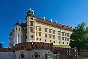 Widok na Wawel i Katedrę Wawelską z ulicy Kanoniczej.<br /> View Wawel Castle and Wawel Cathedral from Kanonicza Street.