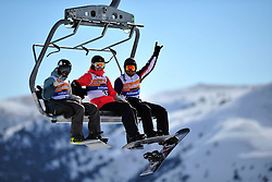 Competition Day 1 at the 2014 IPC Snowboarder-Cross World Cup, La Molina, Spain