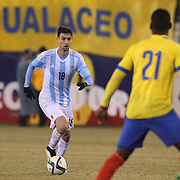 Javier Pastore, Argentina, in action during the Argentina Vs Ecuador International friendly football match at MetLife Stadium, New Jersey. USA. 31st march 2015. Photo Tim Clayton