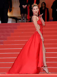 Bella Hadid attending the Pain and Glory premiere, held at the Grand Theatre Lumiere during the 72nd Cannes Film Festival. Photo credit should read: Doug Peters/EMPICS