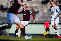 Armin Cerimagic of NK Triglav and Zan Benedicic of NK Celje during the football match between NK Triglav Kranj and NK Celje in 25. Round of Prva liga Telekom Slovenije 2019/20, on March 8, 2020 in Sportni park Kranj, Slovenia. Photo by Grega Valancic / Sportida