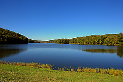 08 October 2013:   <br /> <br /> Yellowwood State Forest was created on leased federal land in 1940.  It was later (1956) deeded to the state of Indiana.  More than 2000 vacant and eroded acres were planted with pine, black locust, black walnut, and red and white oak.  Yellowwood Lake is 133 acres and about 30 feet deep. This image was produced in part utilizing High Dynamic Range (HDR) processes. It should not be used editorially without being listed as an illustration or with a disclaimer. It may or may not be an accurate representation of the scene as originally photographed and the finished image is the creation of the photographer.