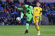 Forest Green Rovers Reece Brown(10) controls the ball during the The FA Cup 1st round match between Oxford United and Forest Green Rovers at the Kassam Stadium, Oxford, England on 10 November 2018.