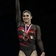 Ariana Guerra, League City, Texas, during presentations at  the Senior Women Competition at The 2013 P&G Gymnastics Championships, USA Gymnastics' National Championships at the XL, Centre, Hartford, Connecticut, USA. 17th August 2013. Photo Tim Clayton