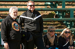 Branko Vekic, Matjaz Kek and his wife Gordana during friendly match between Slovenian football journalists and officials of Slovenian football federation at  Hyde Park High School Stadium on June 16, 2010 in Johannesburg, South Africa.  (Photo by Vid Ponikvar / Sportida)