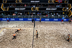 Centercourt view with Sanne Keizer, Madelein Meppelink in action during the second day of the beach volleyball event King of the Court at Jaarbeursplein on September 10, 2020 in Utrecht.