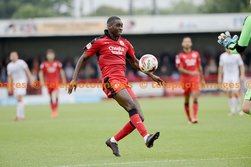 Enzio Boldewijn of Crawley  during the Sky Bet League 2 match between Crawley Town and Luton Town at the Checkatrade Stadium in Crawley. September 17, 2016.<br /> Simon  Dack / Telephoto Images<br /> +44 7967 642437