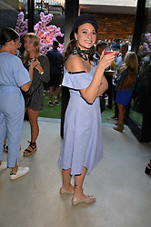 Gizzi Erskine at the Warner Music Group and British GQ Summer Party in partnership with Quintessentially held at Nobu Shoreditch, Willow StreetLondon England. 5 July 2017.<br /> Photo by Dominic O'Neill/SilverHub 0203 174 1069 sales@silverhubmedia.com