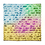Digitally painted image of one colourful Matza on white background