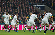 Twickenham, United Kingdom.  Geore FORD, running withe ball in the opening minutes of the   Old Mutual Wealth Series: England vs South Africa, at the RFU Stadium, Twickenham, England, Saturday, 12.11.2016<br /> <br /> [Mandatory Credit; Peter Spurrier/Intersport-images]