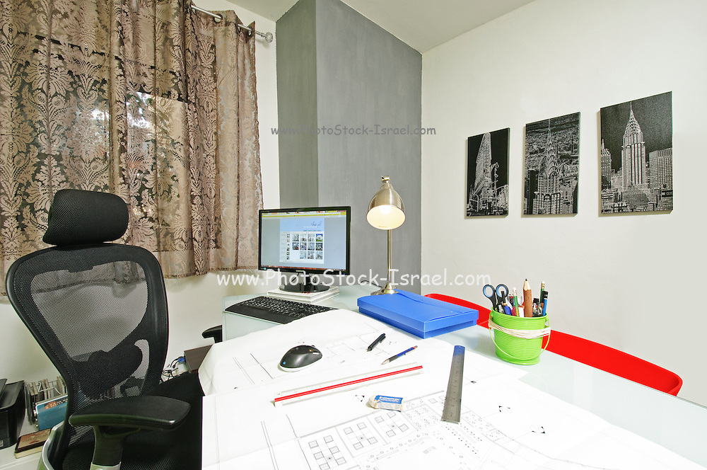 Interior of a home office