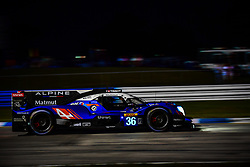 March 13, 2019 - Sebring, Etats Unis - 36 SIGNATECH ALPINE MATMUT (FRA) ALPINE A470 GIBSON LMP2 NICOLAS LAPIERRE (FRA) ANDRE NEGRAO (BRA) PIERRE THIRIET  (Credit Image: © Panoramic via ZUMA Press)