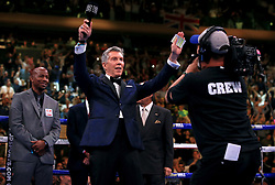 American announcer Michael Buffer at Madison Square Garden, New York.