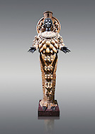 2nd century AD Roman statue of Artemis of Ephesus (Copy of the Greek Classical original), inv no 6278,  The Farnese collection, Naples Archiological Musuem, Italy .<br /> <br /> If you prefer to buy from our ALAMY STOCK LIBRARY page at https://www.alamy.com/portfolio/paul-williams-funkystock/greco-roman-sculptures.html . Type -    Naples    - into LOWER SEARCH WITHIN GALLERY box - Refine search by adding a subject, place, background colour, etc.<br /> <br /> Visit our ROMAN WORLD PHOTO COLLECTIONS for more photos to download or buy as wall art prints https://funkystock.photoshelter.com/gallery-collection/The-Romans-Art-Artefacts-Antiquities-Historic-Sites-Pictures-Images/C0000r2uLJJo9_s0