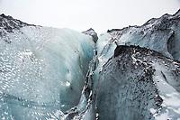 Glacier hike at Solheimajokull - Hekla - Winter in  Iceland. ©2019 Karen Bobotas Photographer