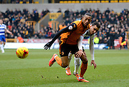 Rajiv Van La Perra on the attack during the Sky Bet Championship match between Wolverhampton Wanderers and Reading at Molineux, Wolverhampton, England on 7 February 2015. Photo by Alan Franklin.