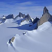 ANTARCTICA, Queen Maud Land. Mount Ulvetanna and Fenris Mountains.