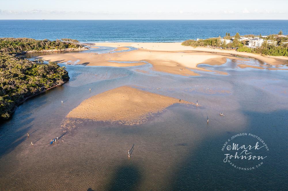Aerial view of Currimundi Lake, Sunshine Coast, Queensland, Australia