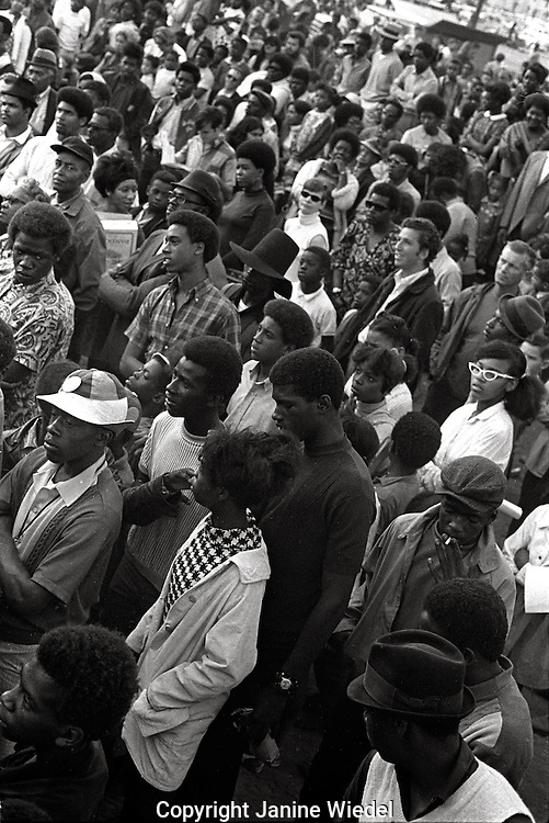 Black Panther concert and meeting in Oakland California in 1969