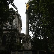 St Paul's Cross at St. Paul's Cathedral, on 18 July 2019, City of London, UK.