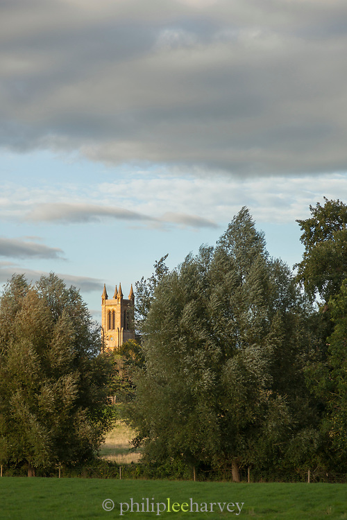 St. Michael and All Angels Church in rural scenery, Broadway, England, UK