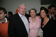 MRS. GERALD HARRIS AND ALISON JACQUES, private view  of new exhibition by Tim Stoner , Alison Jacques Gallery in new premises in Berners St., London, W1 ,Afterwards across the rd. at the Sanderson Hotel. 3 May 2007. DO NOT ARCHIVE-© Copyright Photograph by Dafydd Jones. 248 Clapham Rd. London SW9 0PZ. Tel 0207 820 0771. www.dafjones.com.