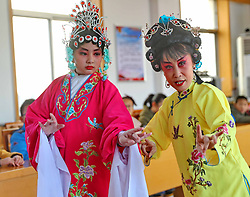 February 6, 2018 - Qinhuangdao, Qinhuangdao, China - Qinhuangdao,CHINA-6th February 2018: Kids learn traditional opera in Qinhuangdao, north China's Hebei Province, marking the upcoming Spring Festival. (Credit Image: © SIPA Asia via ZUMA Wire)