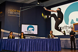 Athletes demonstrate their skill at NWT Day press conference at 2010 Olympics