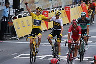 Geraint Thomas (GBR - Team Sky) yellow jersey, Christopher Froome (GBR - Team Sky) during the 105th Tour de France 2018, Stage 21, Houilles - Paris Champs-Elysees (115 km) on July 29th, 2018 - Photo Kei Tsuji / BettiniPhoto / ProSportsImages / DPPI